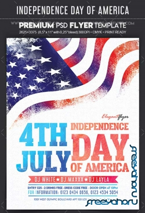 Independence Day of America V17 2018 Flyer PSD Template