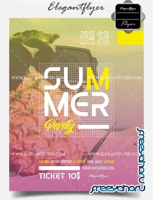 Summer Party V03 2018 Flyer PSD Template