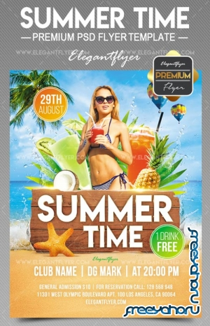 Summer Time V33 2018 Flyer PSD Template
