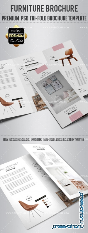 Furniture V3 2018 Tri-Fold Brochure PSD Template