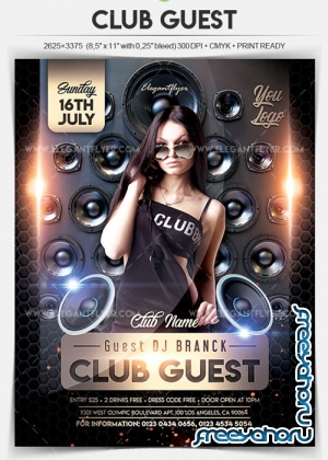 Club Guest V18 2018 Flyer PSD Template