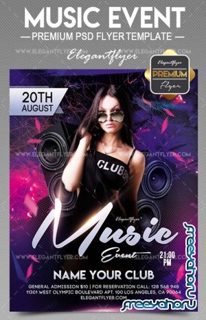 Music Event V15 2018 Flyer PSD Template