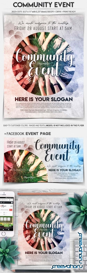 Community Event V5 2018 Flyer PSD Template