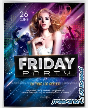 Friday Party V18 2018 Flyer PSD Template