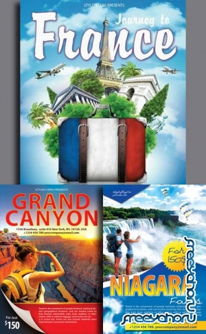 Travel Flyer 3in1 Flyer V2 Template
