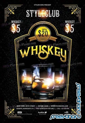 Whiskey Party V8 2018 PSD Flyer Template