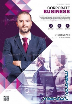 Corporate V45 2018 PSD Flyer Template