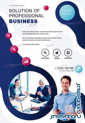 Corporate V44 2018 PSD Flyer Template