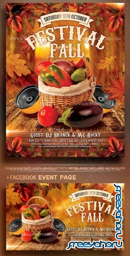 Fall Festivals V12 2018 Flyer PSD Template
