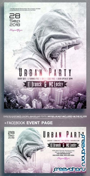 Urban Party V5 2018 Flyer PSD Template