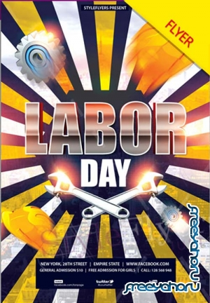 Labor Day V12 2018 PSD Flyer Template