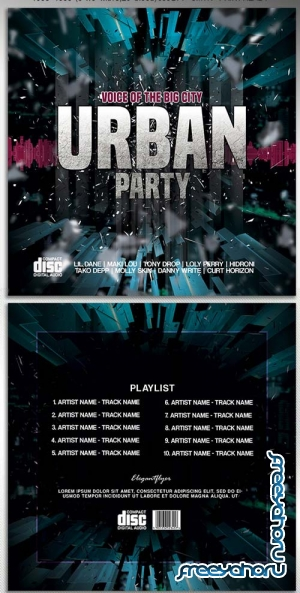 Urban party V5 2018 CD Cover PSD Template