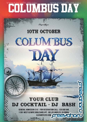 Columbus Day V14 2018 Flyer PSD Template