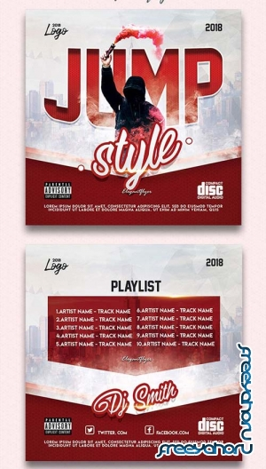 Jump Style V1 2018 CD Cover PSD Template