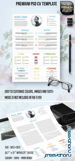 CV and Cover Letter V30 2018  PSD Template