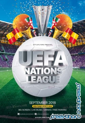 Uefa Nations League V1 2018 PSD Flyer Template