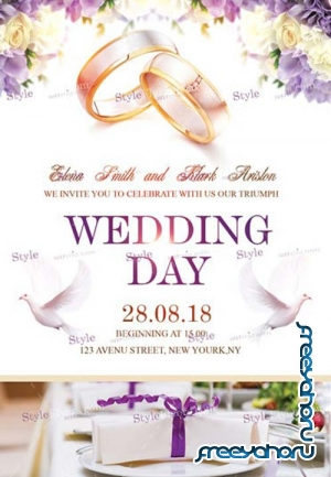 Wedding Day V43 2018 PSD Flyer Template