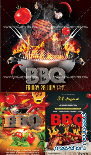 BBQ 3in1 V3 Flyer Template