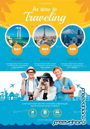 Travel V28 2018 PSD Flyer Template
