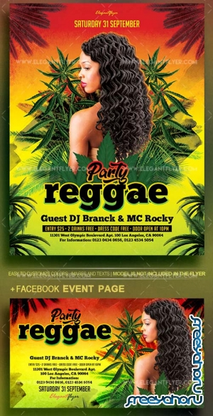 Reggae Party V9 2018 Flyer PSD Template