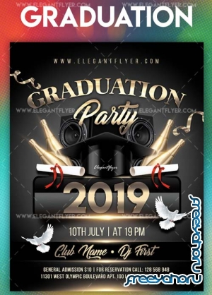 Graduation Party 2018 V2 Flyer PSD Template