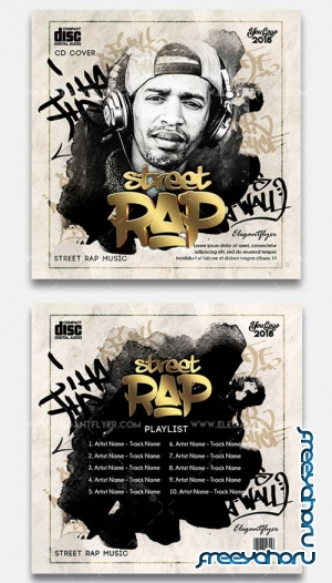 Street Rap V3 2018 CD Cover Template