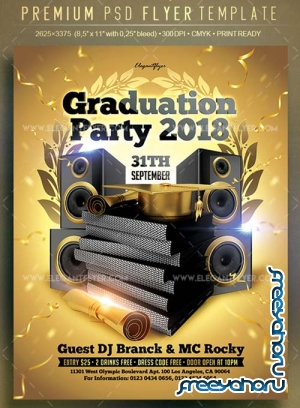 Graduation Party 2018 V1 Flyer PSD Template