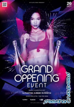 Grand Oppening Event V18 2018 PSD Flyer Template