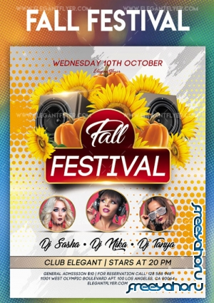 Fall Festival V11 2018 Flyer PSD Template