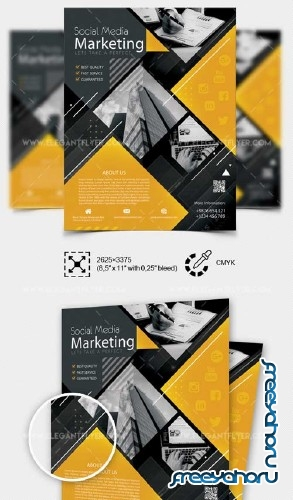 Social Media Marketing V7 2018 Flyer PSD Template