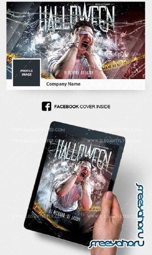Scary Halloween V1 2018 Flyer PSD Template