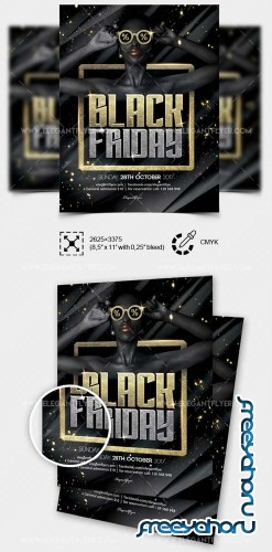 Black Friday V43 2018 Flyer PSD Template