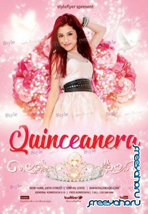 Quinceanera V7 2018 PSD Flyer Template