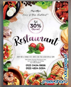 Restaurant V15 2018 Flyer PSD Template
