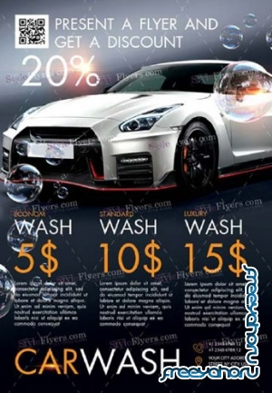 Car Wash V14 2018 PSD Flyer Template