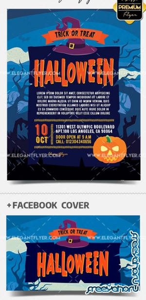 Trick or Treat V1 2018 Flyer PSD Template