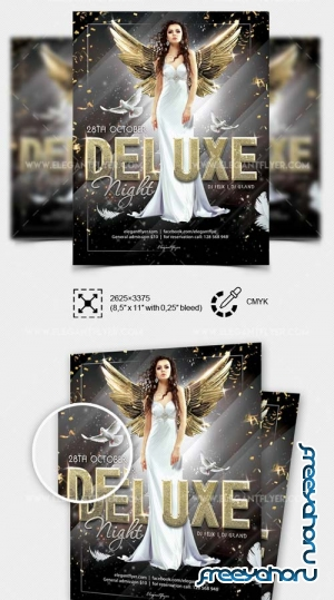 Deluxe Night Party V17 2018 PSD Flyer Template