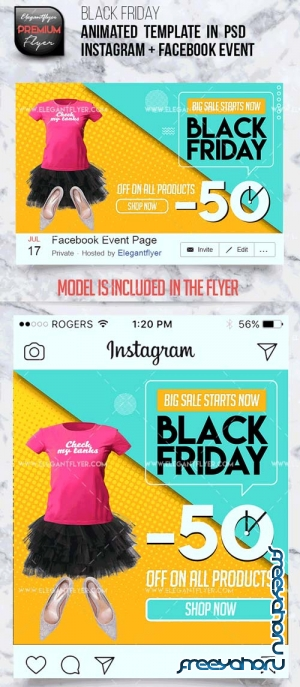 Animated Instagram V25 2018 + Facebook Flyer Template