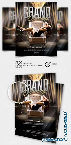 Club Grand Opening V8 2018 Flyer Template in PSD