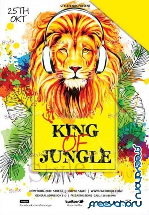 King of Jungle V1 2018 PSD Flyer Template