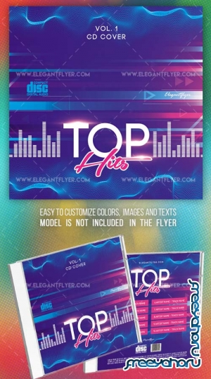 Top Hits V1 2018 PSD CD Cover Template