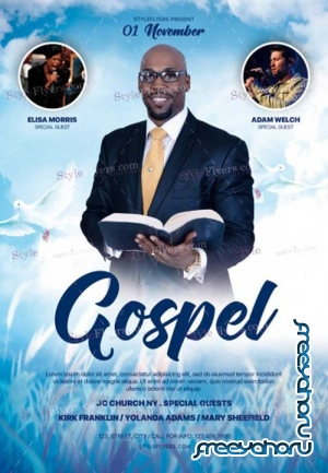 Gospel V17 2018 PSD Flyer Template