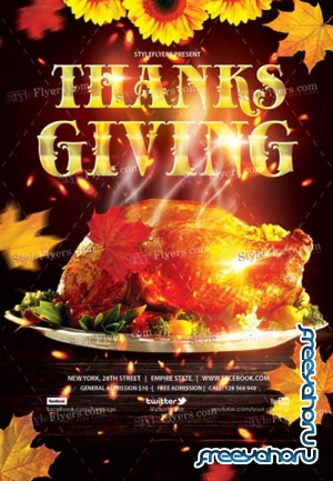Thanksgiving Day V20 2018 PSD Flyer Template