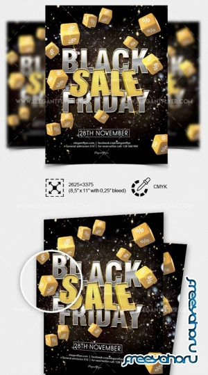 Black Friday Sale V33 2018 PSD Flyer Template
