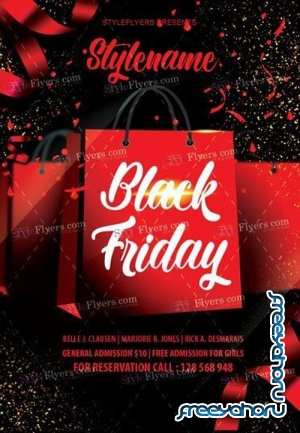 Black Friday V38 2018 PSD Flyer Template