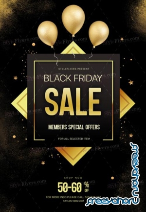 Black Friday V39 2018 PSD Flyer Template