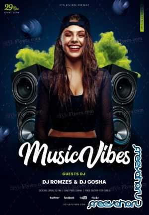 Music Vibe V1 2018 Psd Flyer Template