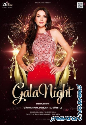 Gala Night V1 2018 PSD Flyer Template