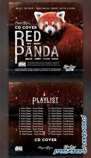 Red Panda V1 2018 Premium PSD CD Cover Artwork