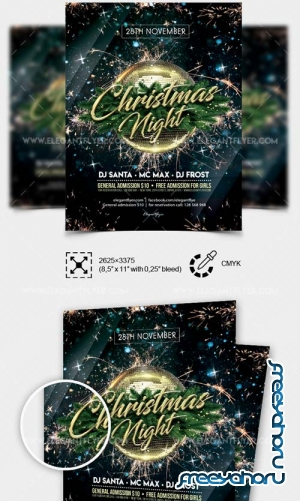 Gala Christmas Night V1 2018 PSD Flyer Template